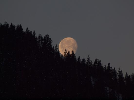 photo moitié soleil moitié lune coucher